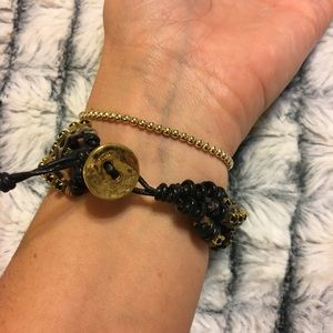 Chan Luu Jewelry - Chan Luu leather and rhinestone braided bracelet